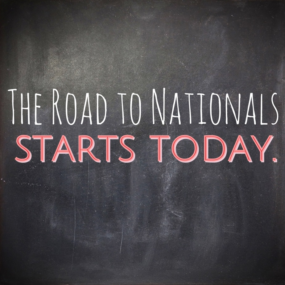 The Road to Nationals StartsToday