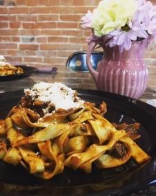 Fettucine Pasta with Porcini Mushroom Bolognese